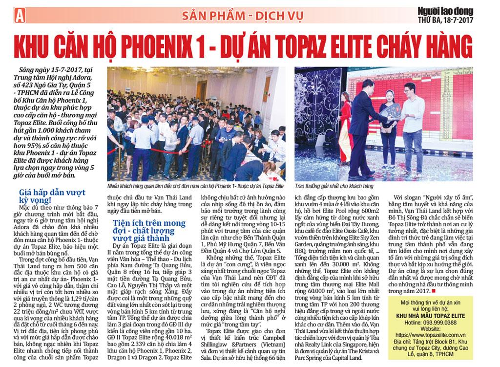 PR-báo-Người-Lao-động--Topaz-Elite